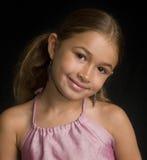 逗人喜爱的女孩混合的族种 免版税库存照片