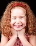 逗人喜爱的女孩红头发人 库存图片