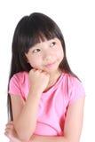 逗人喜爱的女孩纵向年轻人 免版税图库摄影