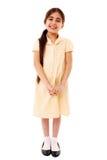 逗人喜爱的女小学生 免版税库存图片