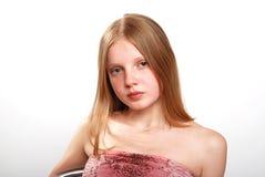 逗人喜爱的女性少年 免版税图库摄影