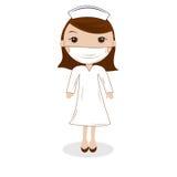逗人喜爱的女性护士 免版税库存图片