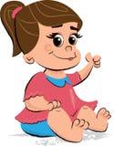 逗人喜爱的女婴儿童的例证 库存图片