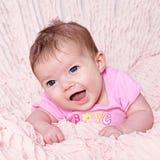 逗人喜爱的女婴 库存照片