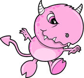 逗人喜爱的妖怪粉红色向量 图库摄影