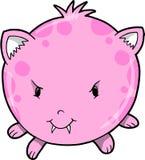 逗人喜爱的妖怪粉红色向量 库存图片