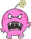 逗人喜爱的妖怪粉红色向量 库存照片