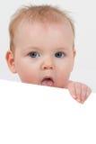逗人喜爱的婴孩一点 库存照片