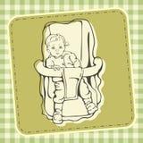 逗人喜爱的婴孩例证 皇族释放例证