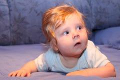 逗人喜爱的婴孩分散 免版税图库摄影