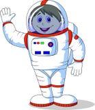 逗人喜爱的宇航员动画片 库存图片