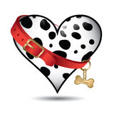 逗人喜爱的宠物达尔马提亚狗模式 免版税库存图片