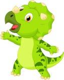 逗人喜爱的小三角恐龙动画片 免版税库存图片