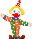 逗人喜爱的小丑动画片 库存照片