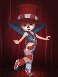 逗人喜爱的小丑 库存照片