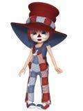 逗人喜爱的小丑 免版税图库摄影
