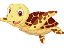 逗人喜爱的小乌龟动画片 免版税图库摄影