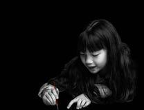 逗人喜爱的小女孩绘 库存照片