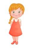 逗人喜爱的小女孩 免版税库存图片
