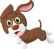 逗人喜爱的小犬座动画片 皇族释放例证