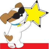 逗人喜爱的小狗星形 库存照片