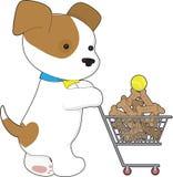 逗人喜爱的小狗购物 免版税库存照片