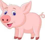 逗人喜爱的小猪动画片 免版税图库摄影