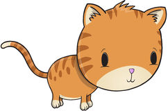 逗人喜爱的小猫传染媒介 库存图片