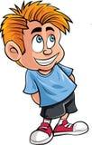 逗人喜爱的小男孩动画片  图库摄影
