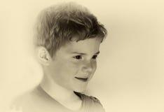 逗人喜爱的小男孩 库存照片