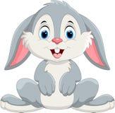 逗人喜爱的小的兔宝宝动画片 库存照片