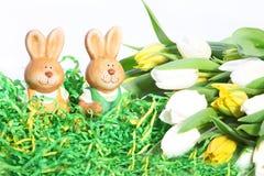 逗人喜爱的小的复活节兔子 免版税库存图片