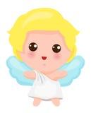 逗人喜爱的小的天使的例证 免版税库存图片
