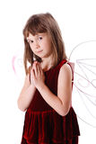 逗人喜爱的小的天使 免版税库存照片