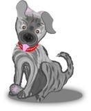逗人喜爱的小的小狗例证 向量例证