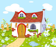 逗人喜爱的小的房子 免版税图库摄影