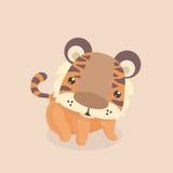 逗人喜爱的小的老虎 免版税库存照片