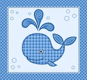 逗人喜爱的小的鲸鱼 免版税库存图片