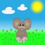 逗人喜爱的小的鼠标 免版税库存图片