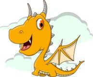 逗人喜爱的小的龙动画片 免版税库存图片