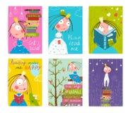 逗人喜爱的小的Kids Reading公主童话书 图库摄影