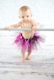 逗人喜爱的小芭蕾舞女演员 库存图片