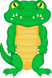 逗人喜爱的小鳄鱼动画片 库存照片