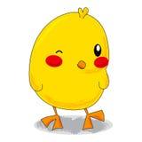逗人喜爱的小鸡一点 免版税库存图片
