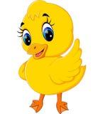 逗人喜爱的小鸭子动画片 向量例证