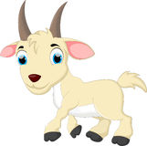 逗人喜爱的山羊动画片 免版税库存照片