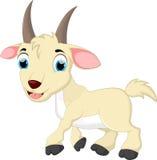 逗人喜爱的山羊动画片 图库摄影