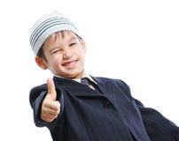 逗人喜爱的帽子孩子小穆斯林 免版税库存照片