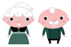 逗人喜爱的年长夫妇: 祖母和祖父 免版税库存图片