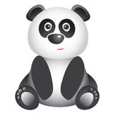逗人喜爱的微笑的熊猫 库存图片